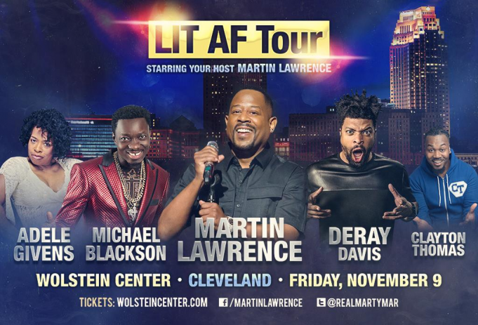LIT AF Tour: Martin Lawrence, DeRay Davis, Bruce Bruce & Adele Givens at Spectrum Center